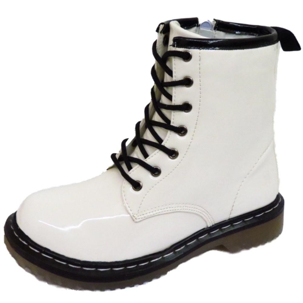 Model U221aWomen Short Boots U140a Chunky Chunky Medium Heel White Lace Lace Up Booties Bride Bridesmaids ...