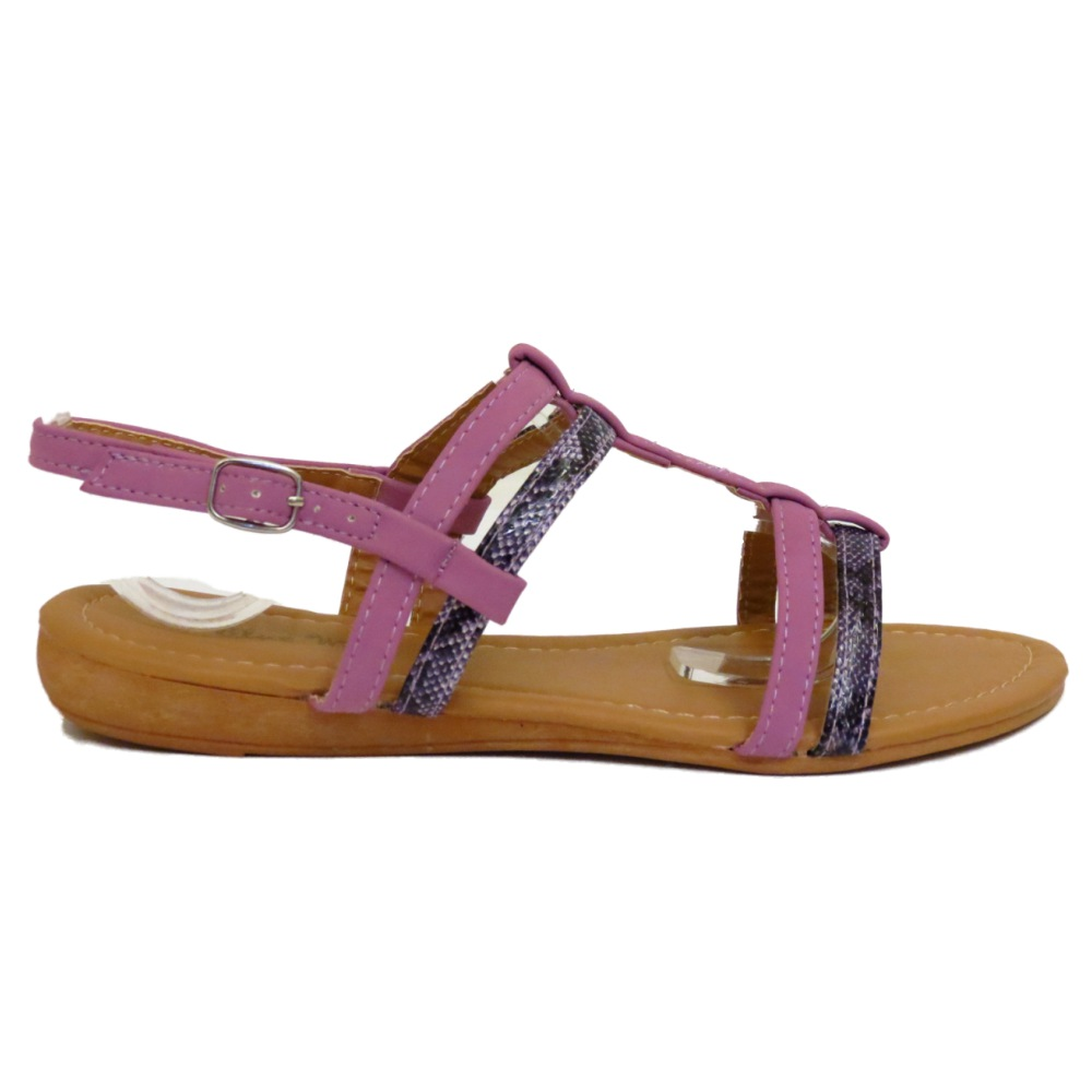 9b5c1763e33e Sentinel WOMENS FLAT LILAC GLADIATOR FLIP-FLOP SHOES SUMMER BEACH HOLIDAY  SANDALS 3-8
