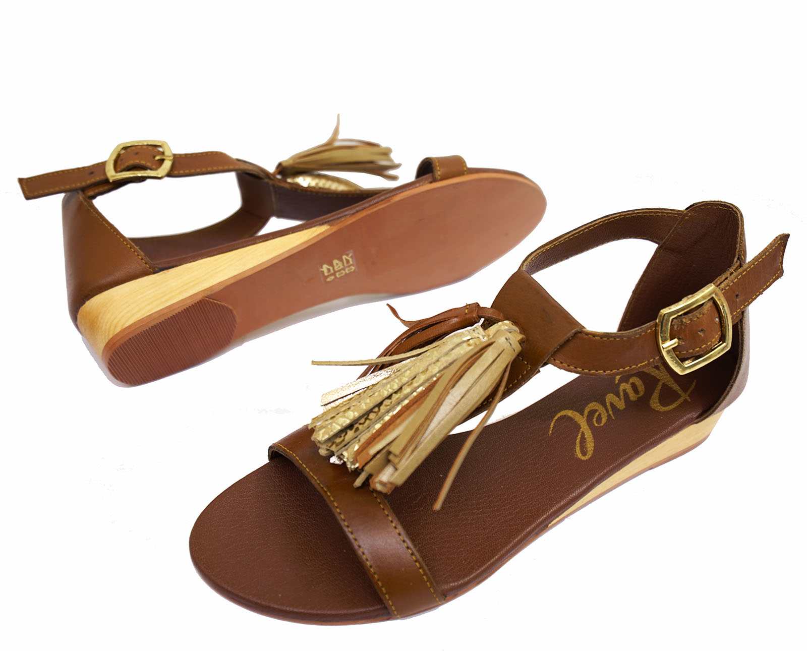 LADIES-RAVEL-ASTORIA-FLAT-LEATHER-TAN-SANDALS-SLIP-ON-T-BAR-STRAPPY-SHOES-UK-3-8 thumbnail 6