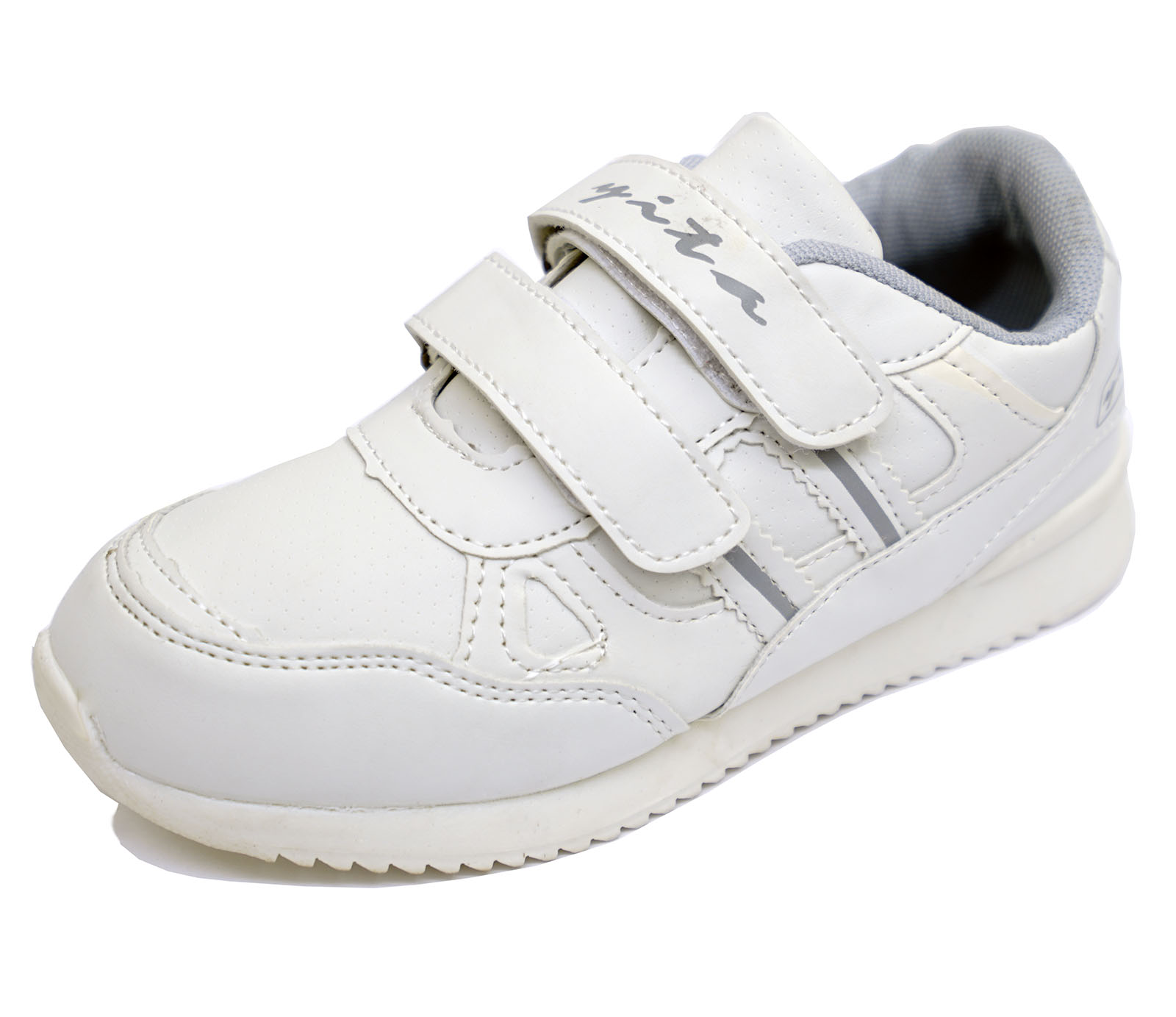 5644fd37d861 BOYS GIRLS KIDS CHILDRENS WHITE SPORTS TRAINERS SCHOOL SHOES ...