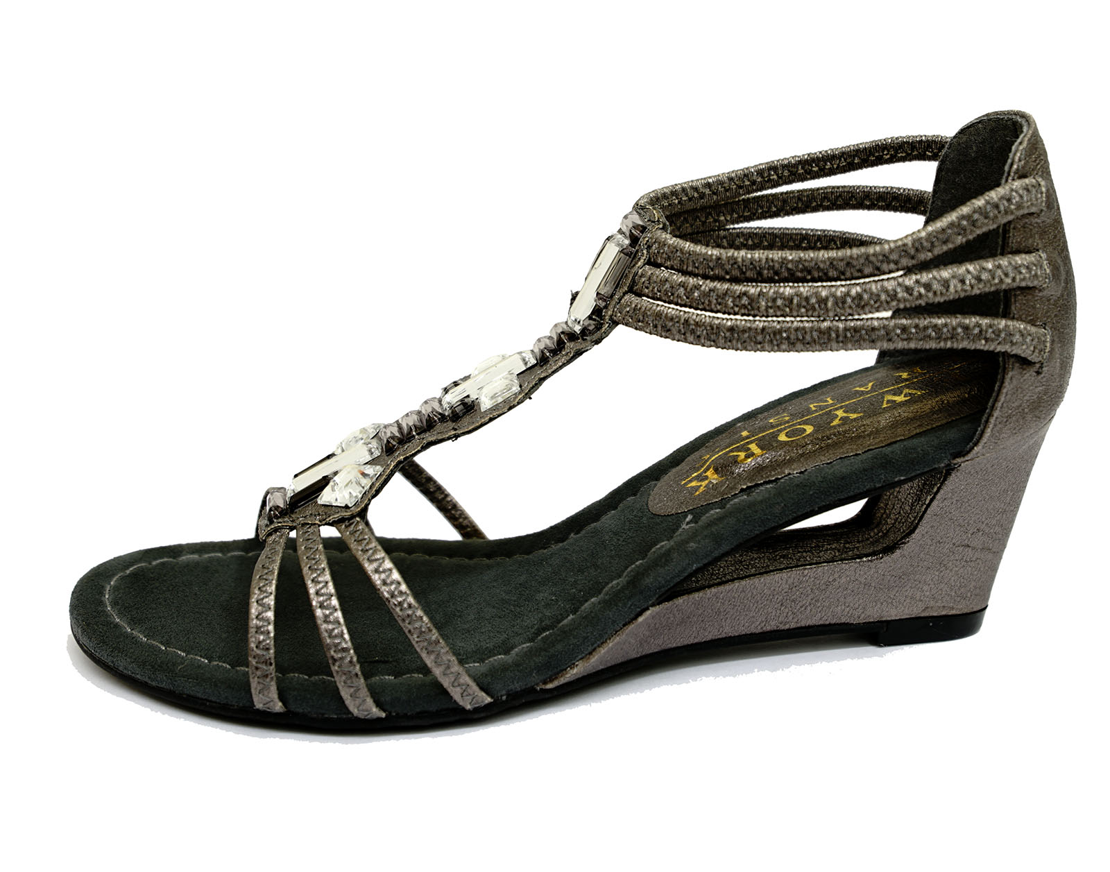 Silver Leather Ladies Shoes Comfy