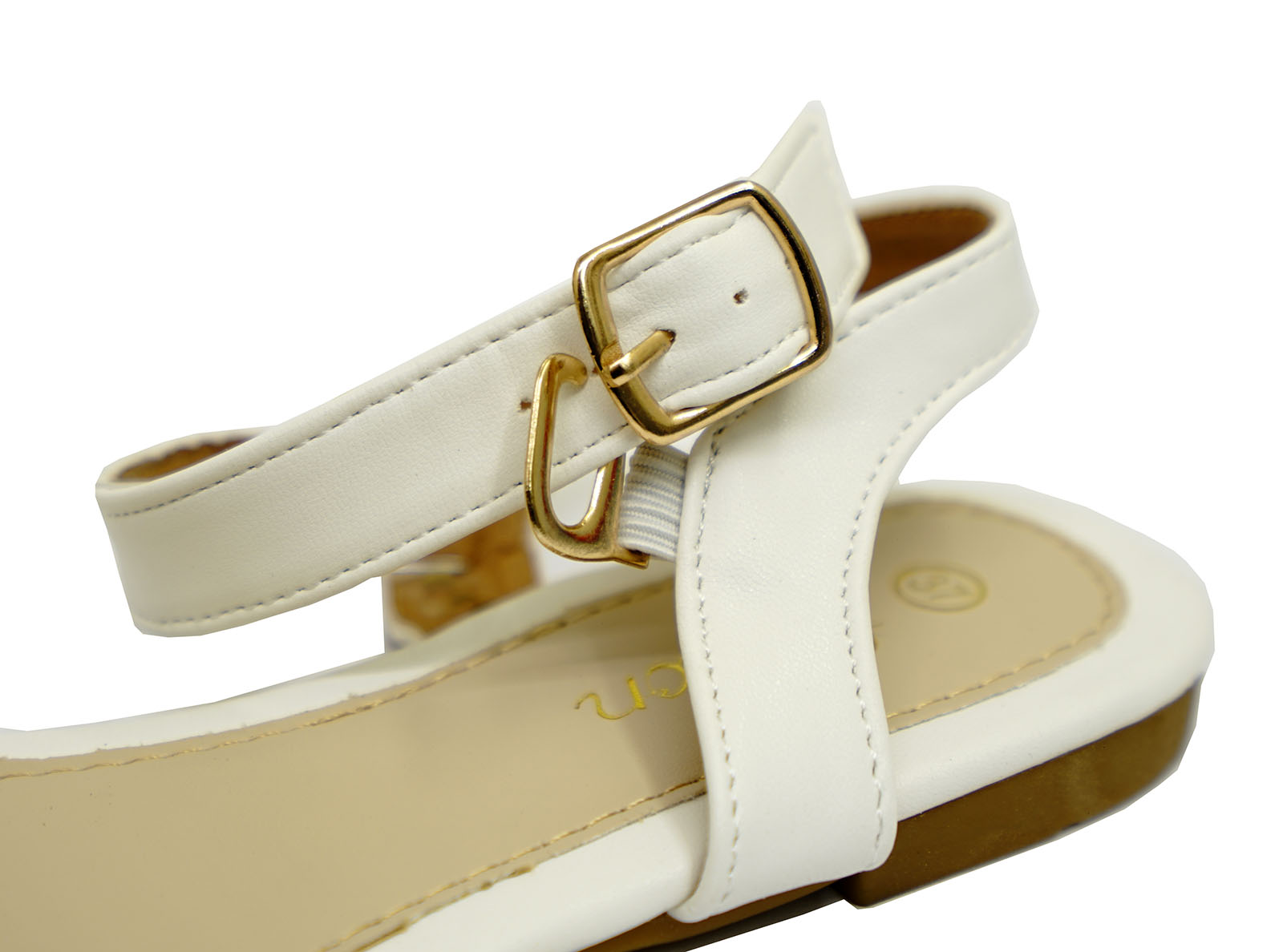 28e507fd475a3 Sentinel LADIES WHITE FLAT STRAPPY GLADIATOR SUMMER SANDALS FLIP-FLOP COMFY SHOES  UK 3-8