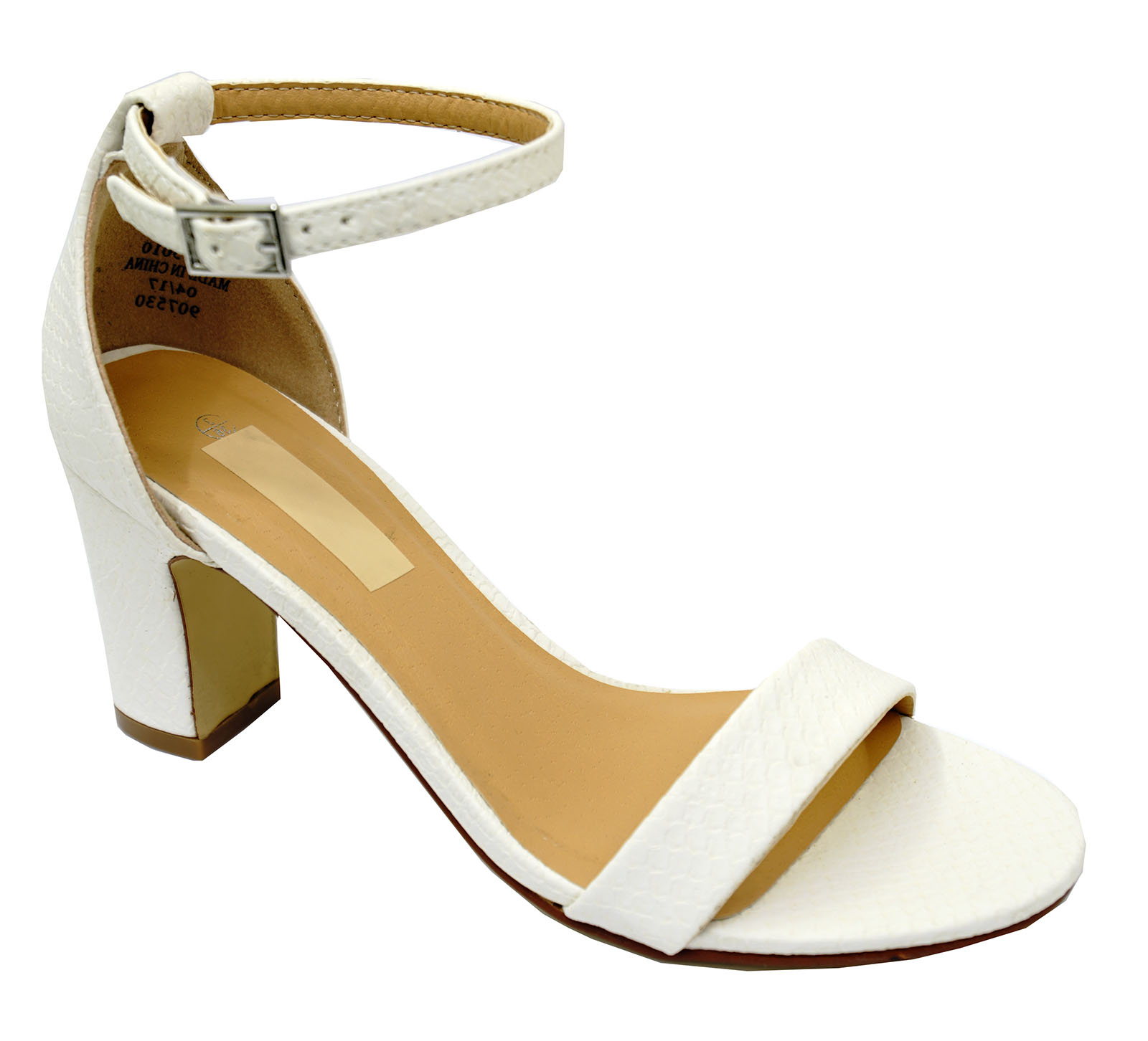 LADIES-WHITE-ANKLE-STRAP-BLOCK-HEEL-PEEPTOE-SANDALS-HOLIDAY-COMFY-SHOES-UK-3-8 thumbnail 23