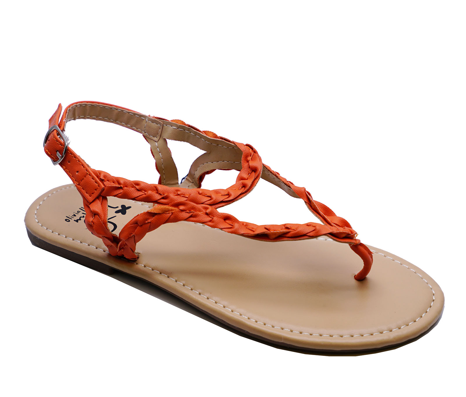 23fa0fd436a Sentinel GIRLS KIDS CHILDRENS ORANGE TOE-POST GLADIATOR SANDALS SUMMER  SHOES SIZES 11-4