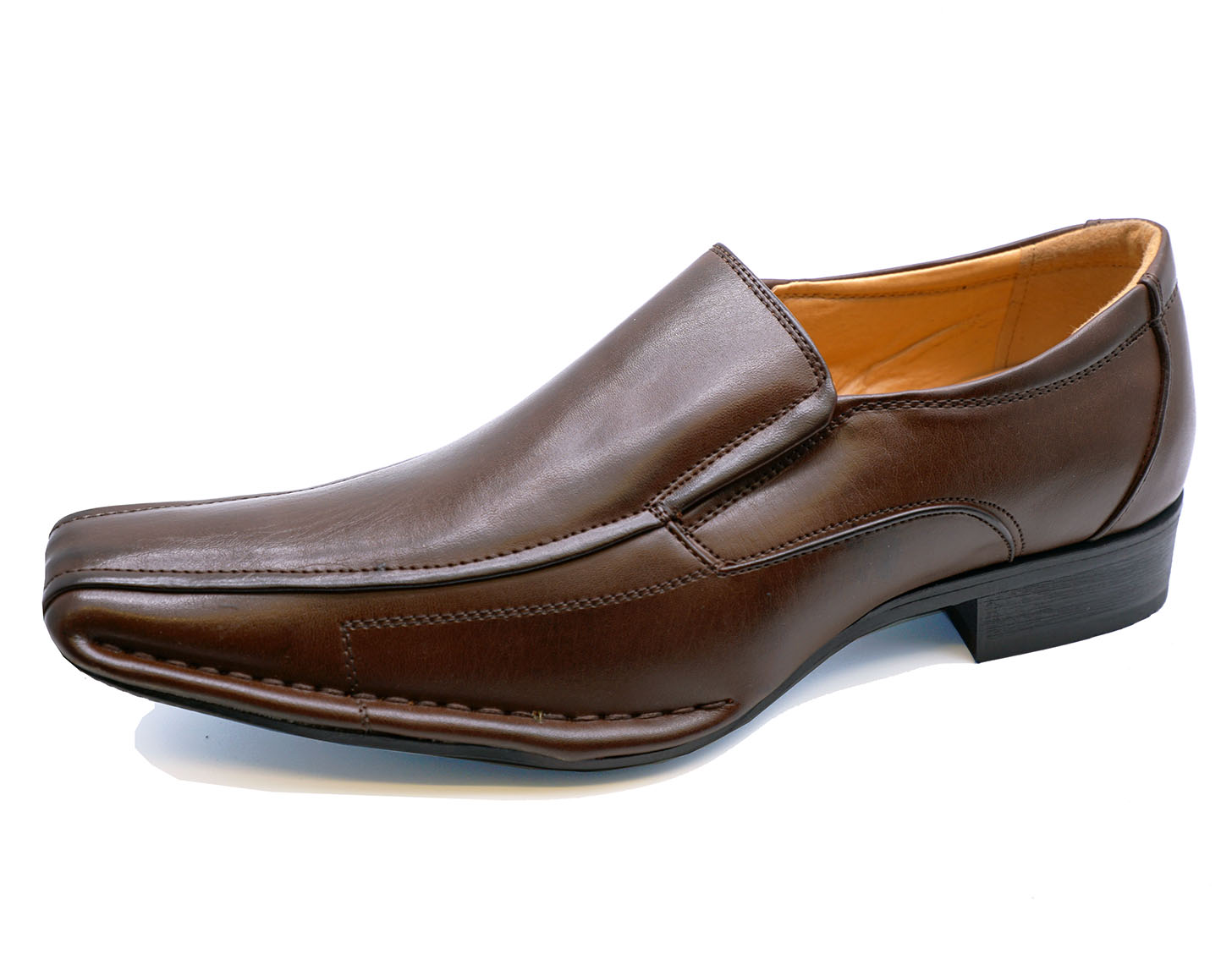 e6334159690 Sentinel MENS DARK BROWN SLIP-ON WORK WEDDING SMART CASUAL LOAFERS SHOES  SIZES 6-11