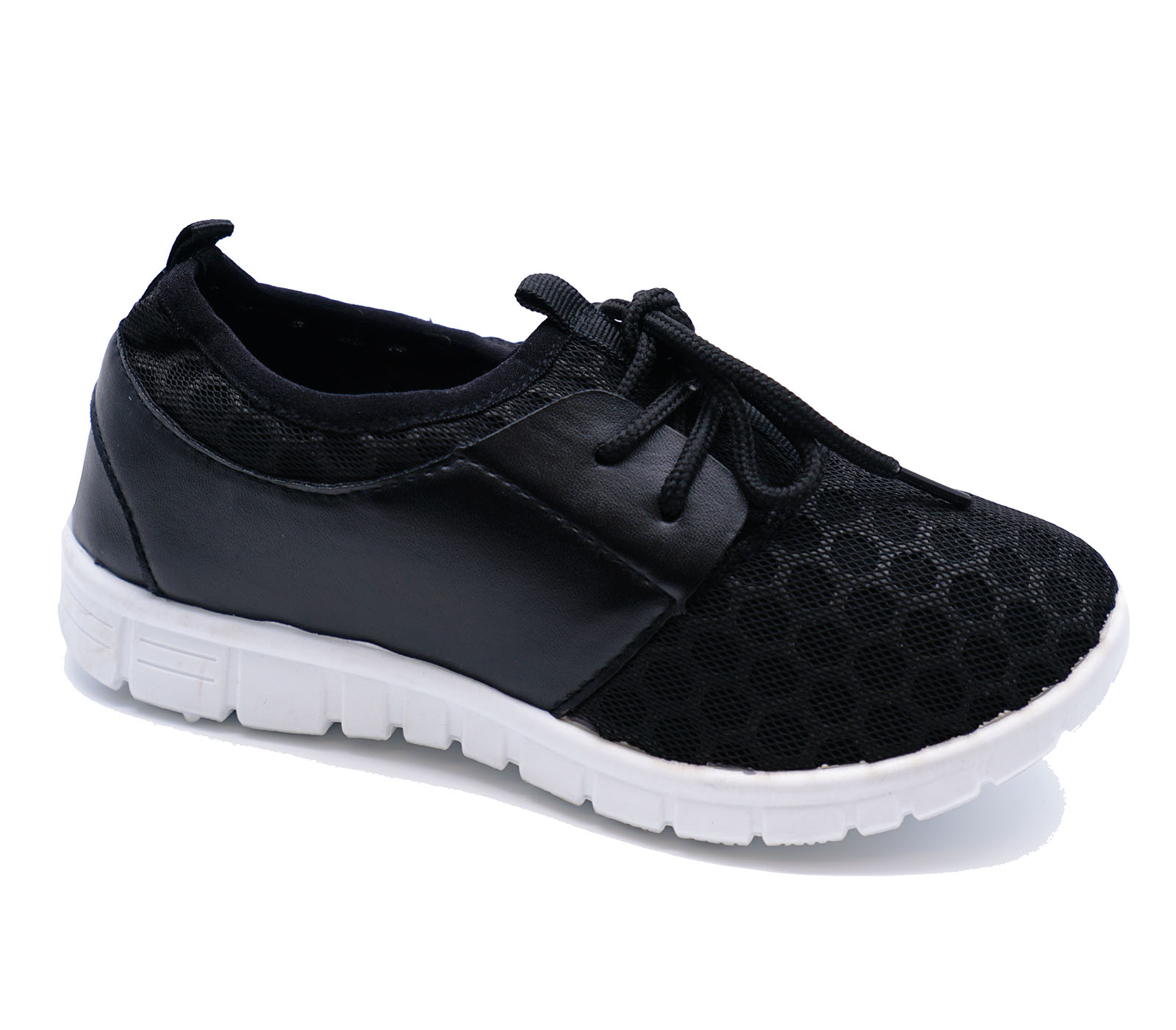 c0ee36e2cd5 Sentinel BOYS GIRLS KIDS CHILDRENS BLACK SCHOOL TRAINERS LACE FLAT SPORTS  SHOES SIZE 10-3
