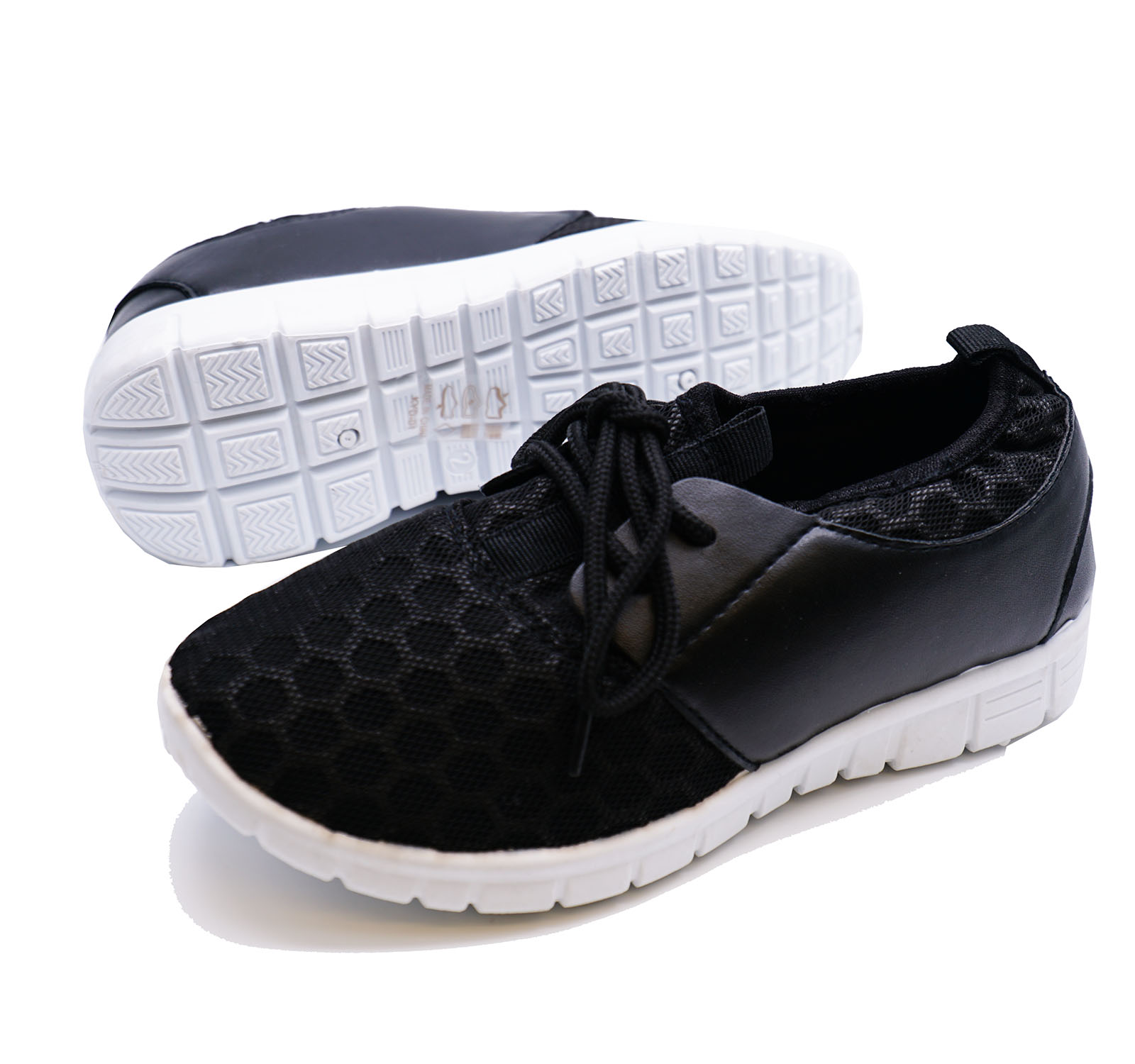 Sentinel BOYS GIRLS KIDS CHILDRENS BLACK SCHOOL TRAINERS LACE FLAT SPORTS  SHOES SIZE 10-3 03d1f84d2