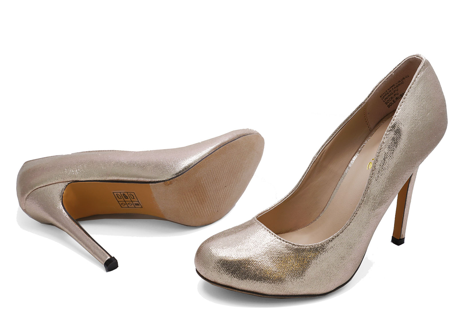 fancy wedding shoes gold slip on high heel wedding prom court 4048