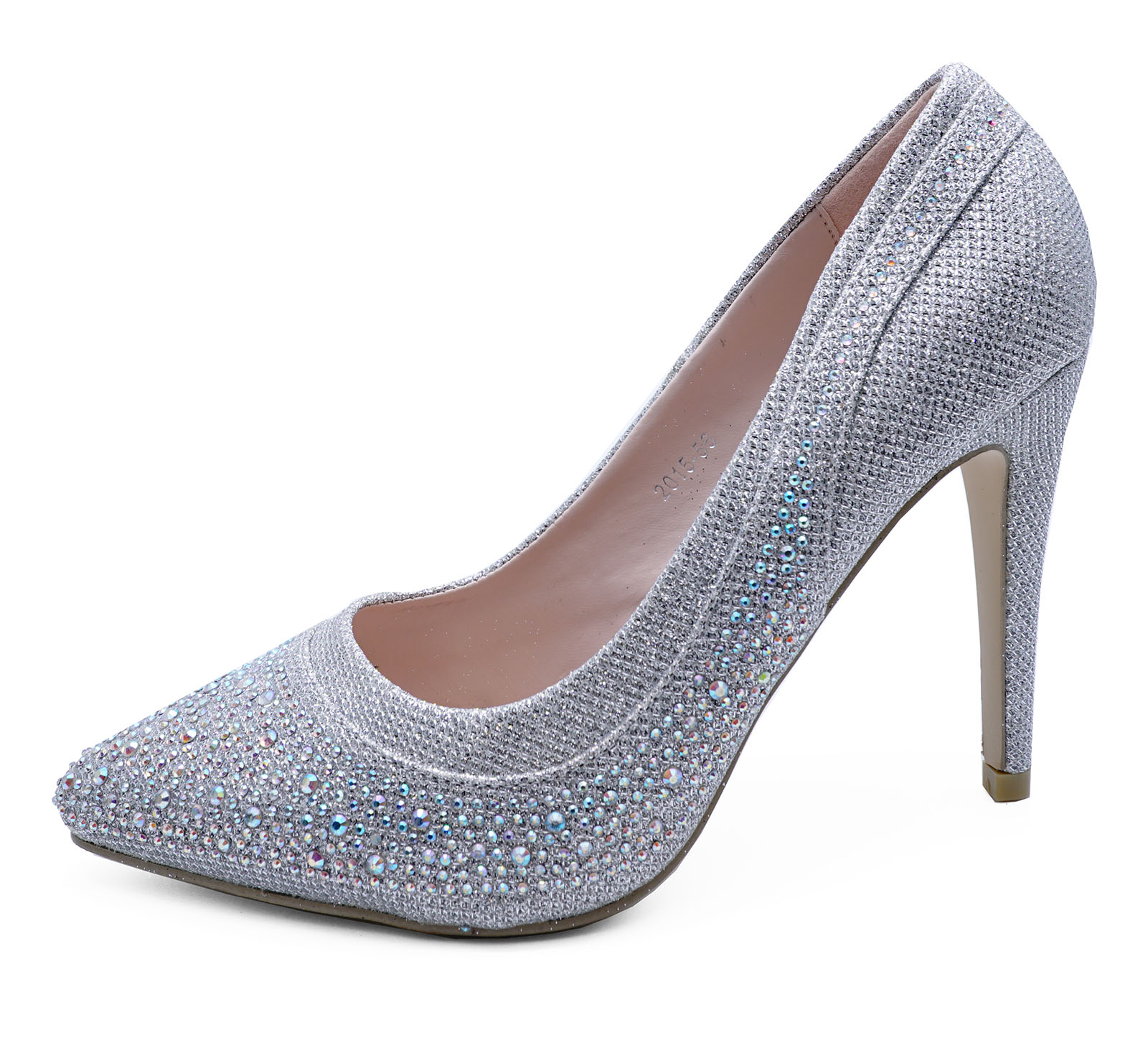 bridesmaid wedding shoes silver diamante wedding prom bridesmaid 2084