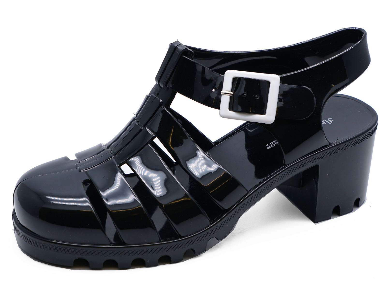 e4ca58fa3e21b Details about LADIES BLACK JELLY GLADIATOR RETRO SANDALS FESTIVAL BEACH  HOLIDAY SHOES UK 3-8