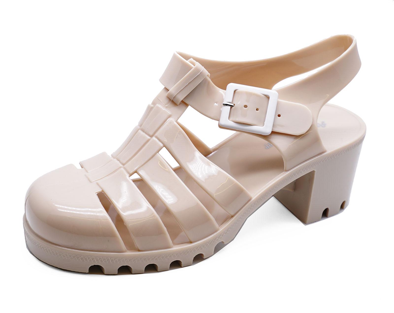 Mujer Piel Grueso Talón Plataforma Jalea Sandalias De Vacaciones Zapatos De Salón Tallas 3-8