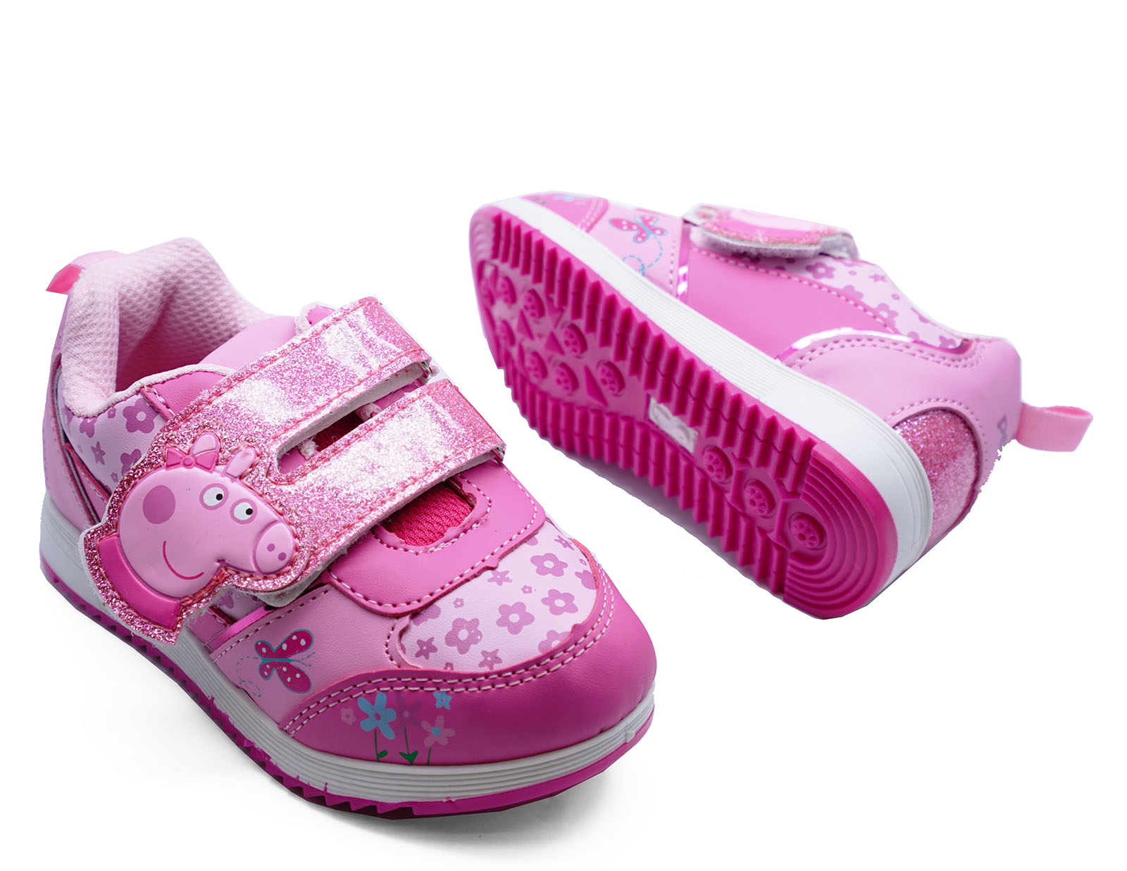 GIRLS KIDS CHILDRENS PINK PEPPA PIG TRAINERS CUTE PLIMSOLL PUMPS SHOES UK 5-10
