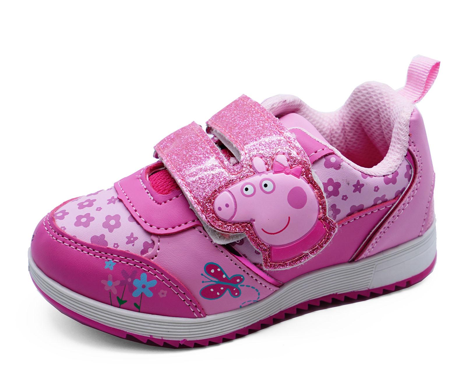 Niños Niñas Rosa Peppa Pig Zapatillas BONITO Zapatillas Planas Zapatos UK 5-10