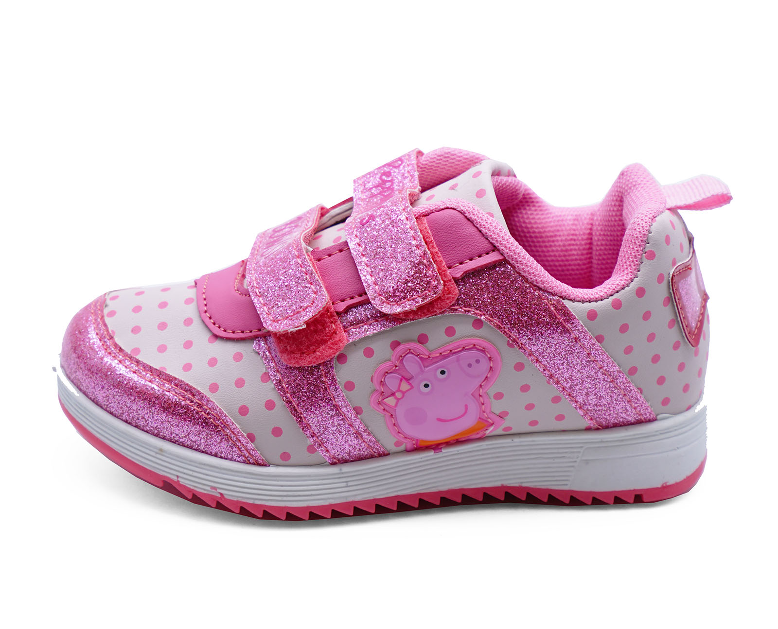GIRLS PEPPA PIG KIDS CHILDRENS PINK TRAINERS PLIMSOLL PUMPS PRETTY SHOES UK 5-10