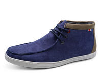 View Item MENS SMART NAVY CANVAS CASUAL LACE-UP ANKLE DESERT COMFY BOOTS SHOES SIZES 6-11