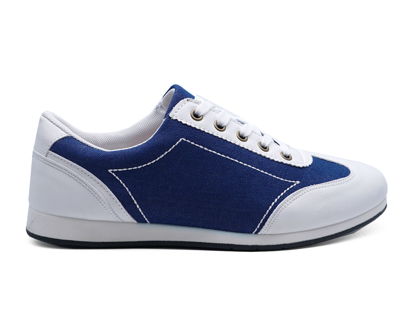 Mens White Lace Up Comfy Pumps Trainers Smart Bowling Style Shoes