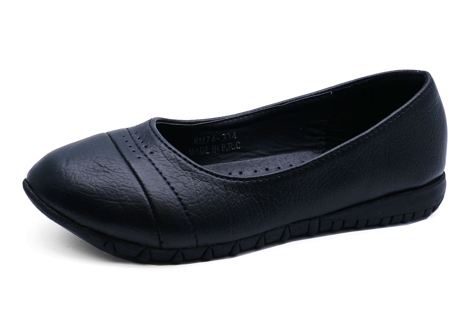 JUNIOR GIRLS BLACK SCHOOL SLIP-ON BALLERINA SMART PUMPS UNIFORM SHOES UK 12-3