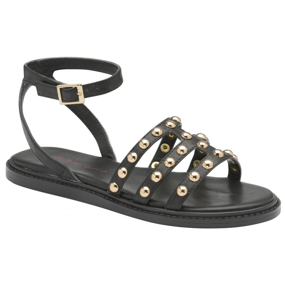 4dbf6112ed47 LADIES DOLCIS JEMIMA BLACK FLAT MEMORY FOAM GLADIATOR SANDALS SHOES SIZES  3-8 Buy Online