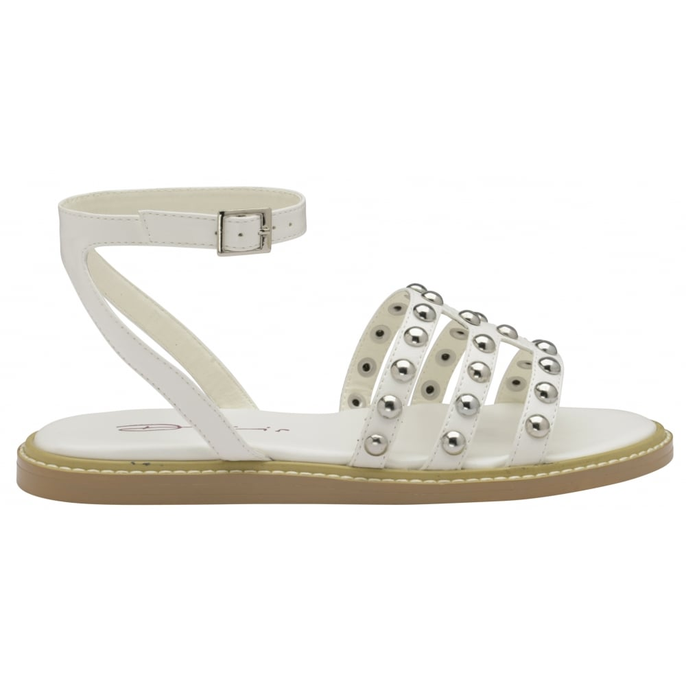 8e0143235f91 Sentinel LADIES DOLCIS JEMIMA WHITE FLAT MEMORY FOAM GLADIATOR SANDALS  SHOES SIZES 3-8
