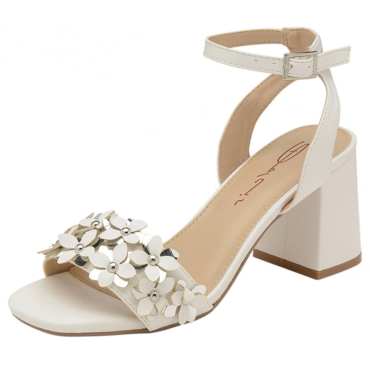 8728339f1d22 LADIES DOLCIS NIAMH WHITE BLOCK HEEL ANKLE PEEP-TOE SANDALS STRAPPY SHOES  UK 3-8 Buy Online