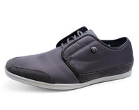 View Item MENS GREY LACE-UP SMART CASUAL PLIMSOLLS PUMPS LOAFERS COMFY SHOES SIZES 6-11