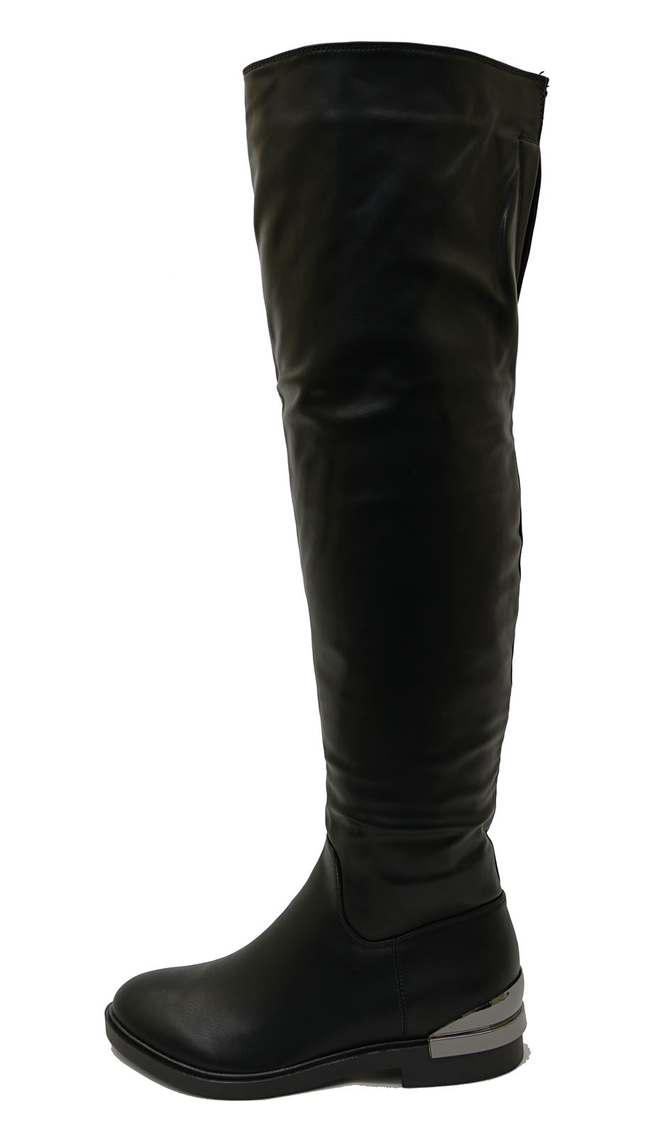 bea5646d80b6 Sentinel LADIES BLACK FLAT OVER THE KNEE HIGH TALL ZIP-UP RIDING WORK BOOTS  SHOES UK