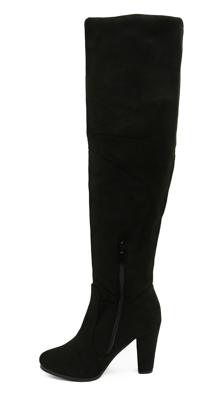 3547fb82b92 Details about WOMENS BLACK SOFT OVER-THE KNEE WINTER STRETCHY THIGH BOOT  SHOES SIZES 3-8
