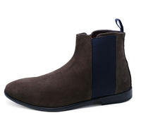 View Item MENS GENUINE SUEDE LEATHER BROWN CHELSEA DEALER ANKLE BOOTS SHOES SIZES 6-12