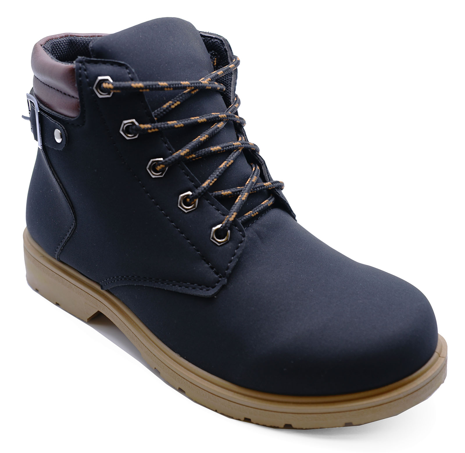 af4888fdfff Details about LADIES BLACK LACE-UP DESERT COMFY CASUAL HIKING TRAIL ANKLE  BOOTS SHOES SIZE 3-7