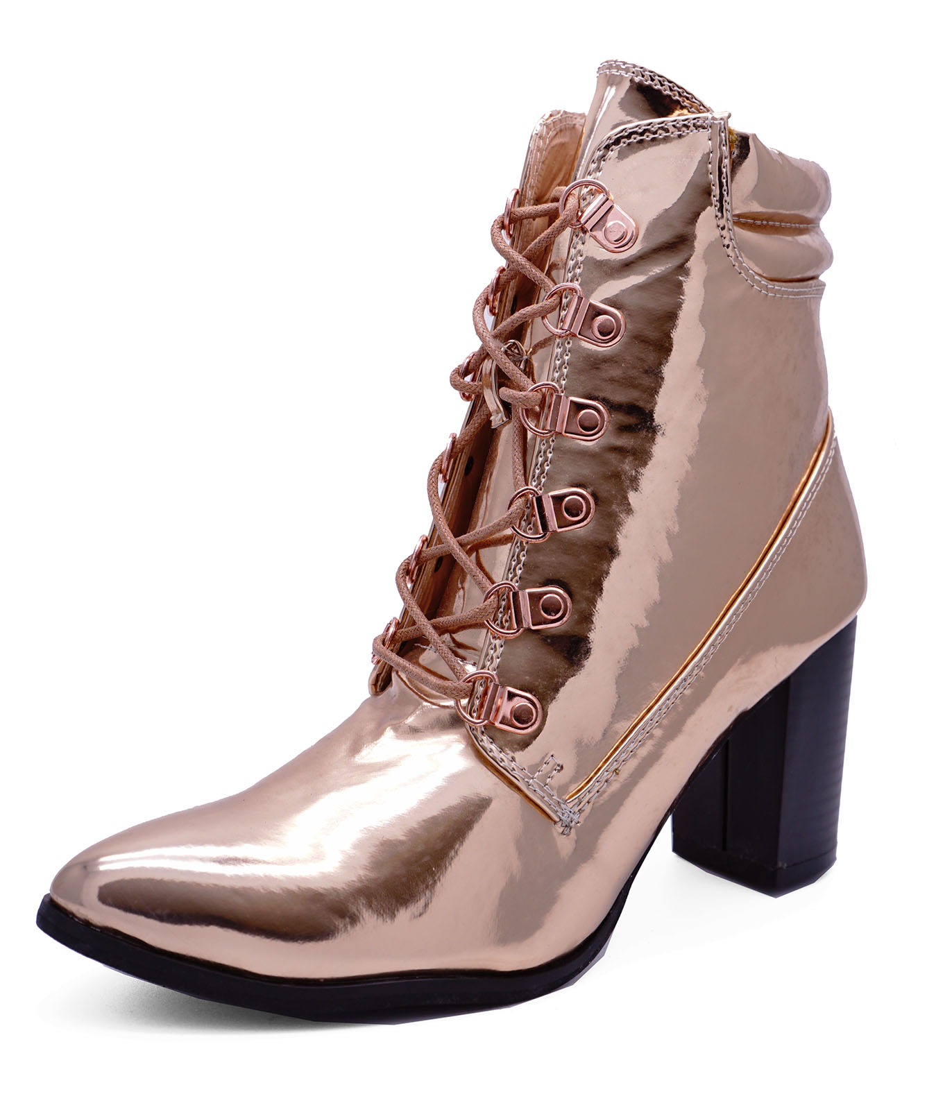 boots jorgia anklet gold heeled ankle chrome rose