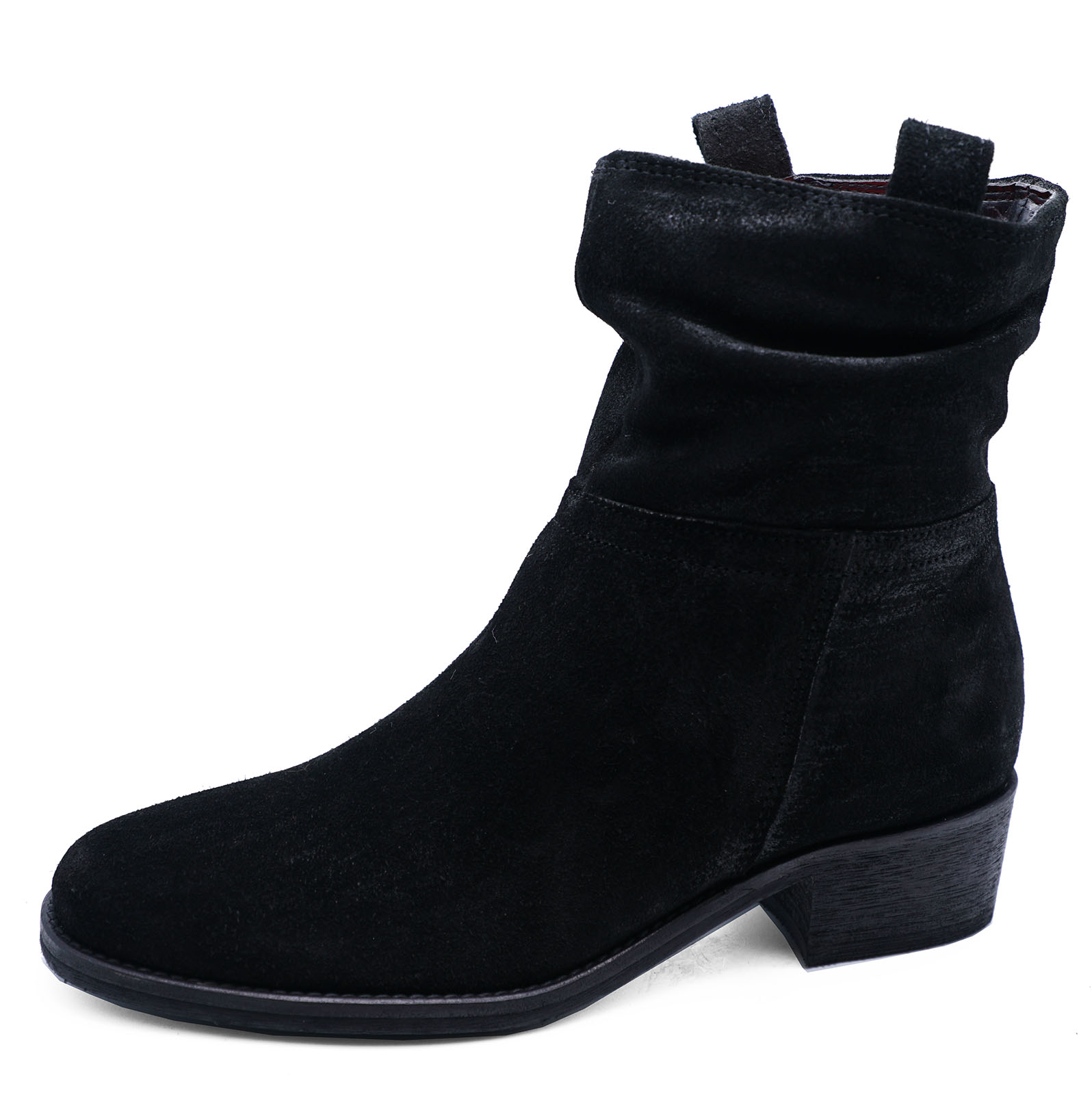 WOMENS-BLACK-GENUINE-SUEDE-LEATHER-SLOUCH-BLACK-BOOTS-SHOES-SIZES-2-9-RRP-55