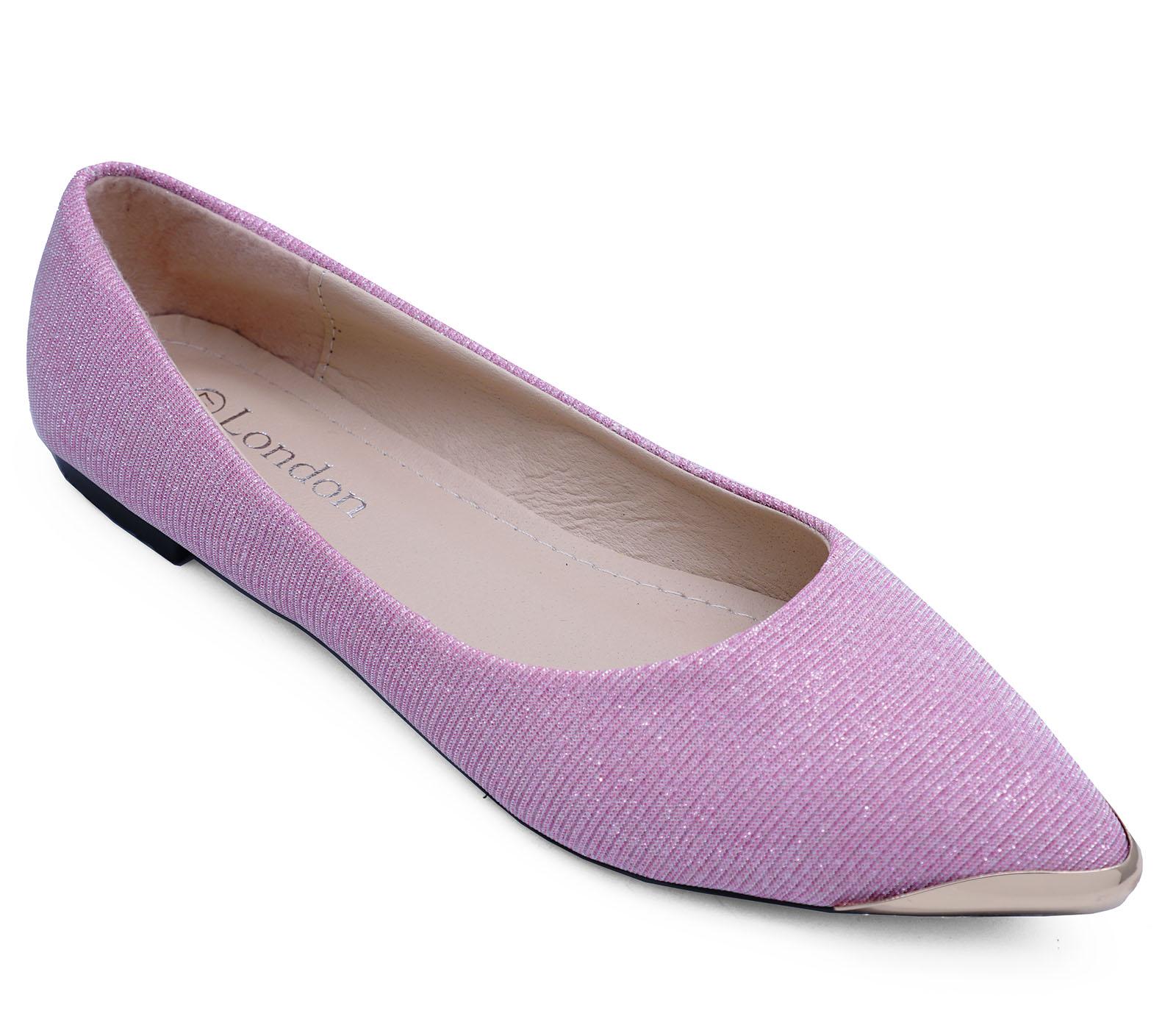 Sizes 8 Dolly 3 Work Ballet Comfy Pink Glitter Pumps Flat Shoes on Ladies Slip OwRAq74qP