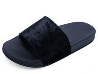 View Item LADIES BLACK SLIP-ON SLIDERS COMFY FLAT MULES FLIP-FLOP COMFY SANDALS SHOES 3-8