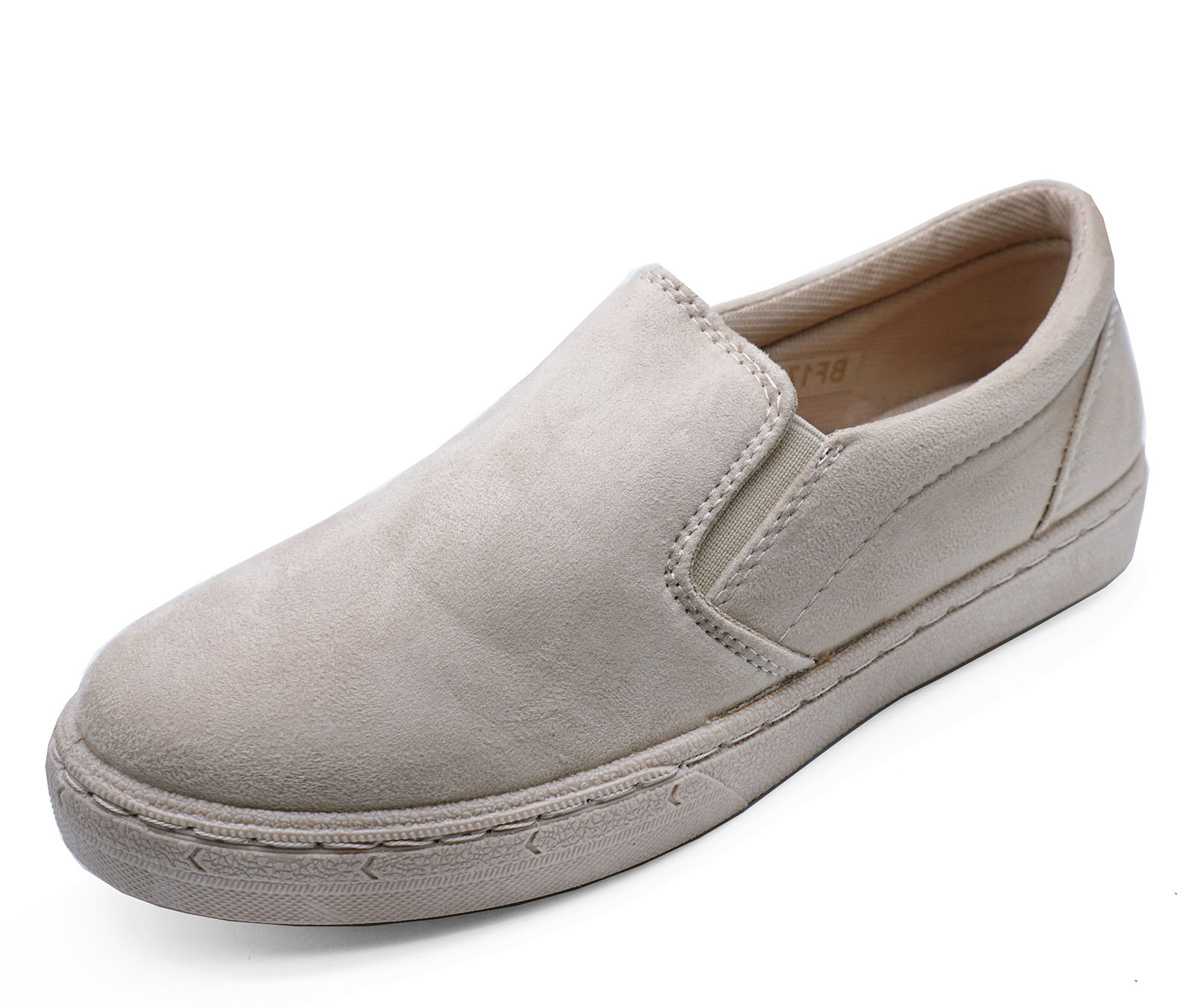 05b982b78a6 Sentinel LADIES BEIGE FLAT SLIP-ON PLIMSOLL PUMPS CASUAL COMFY LOAFERS  TRAINERS SHOES 3-8