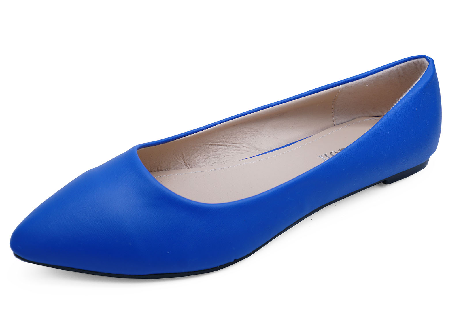 Ladies Blue Slip On Smart Flat Shoes Pointy Comfy Ballet Ballerina Flatshoes Sentinel Pumps Uk 3