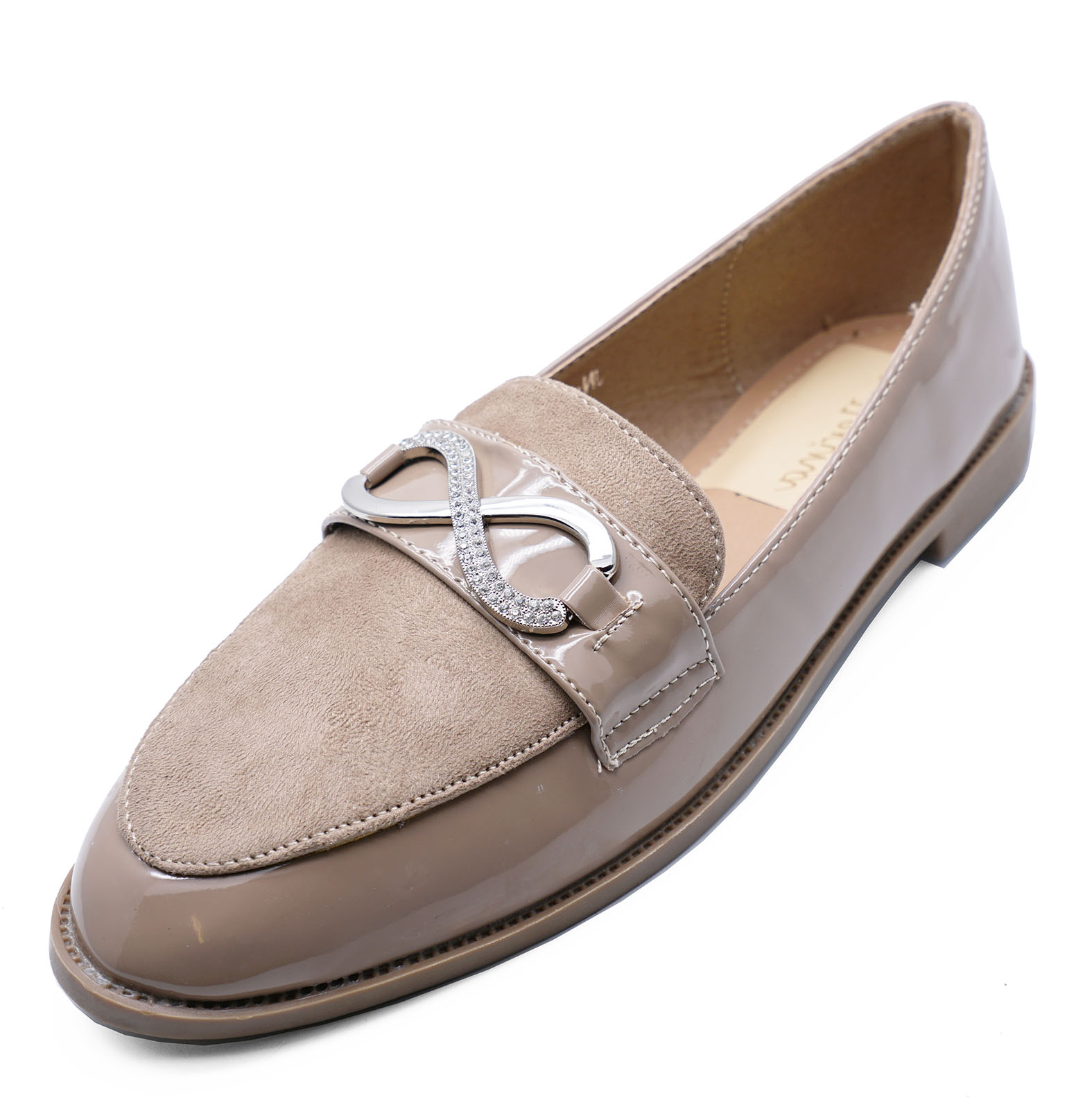 f9217967b61 Sentinel LADIES MINK SLIP-ON LOAFERS MOCCASIN CASUAL SMART WORK COMFY FLAT  SHOES UK 3-