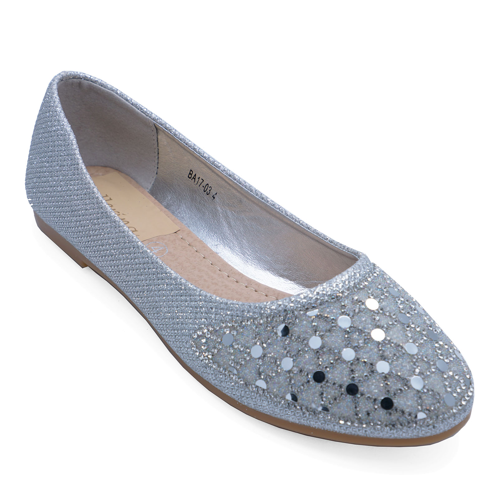WOMENS-FLAT-SILVER-SLIP-ON-WEDDING-BRIDESMAID-BRIDAL-PARTY-SHOES-BALLET-PUMPS-3