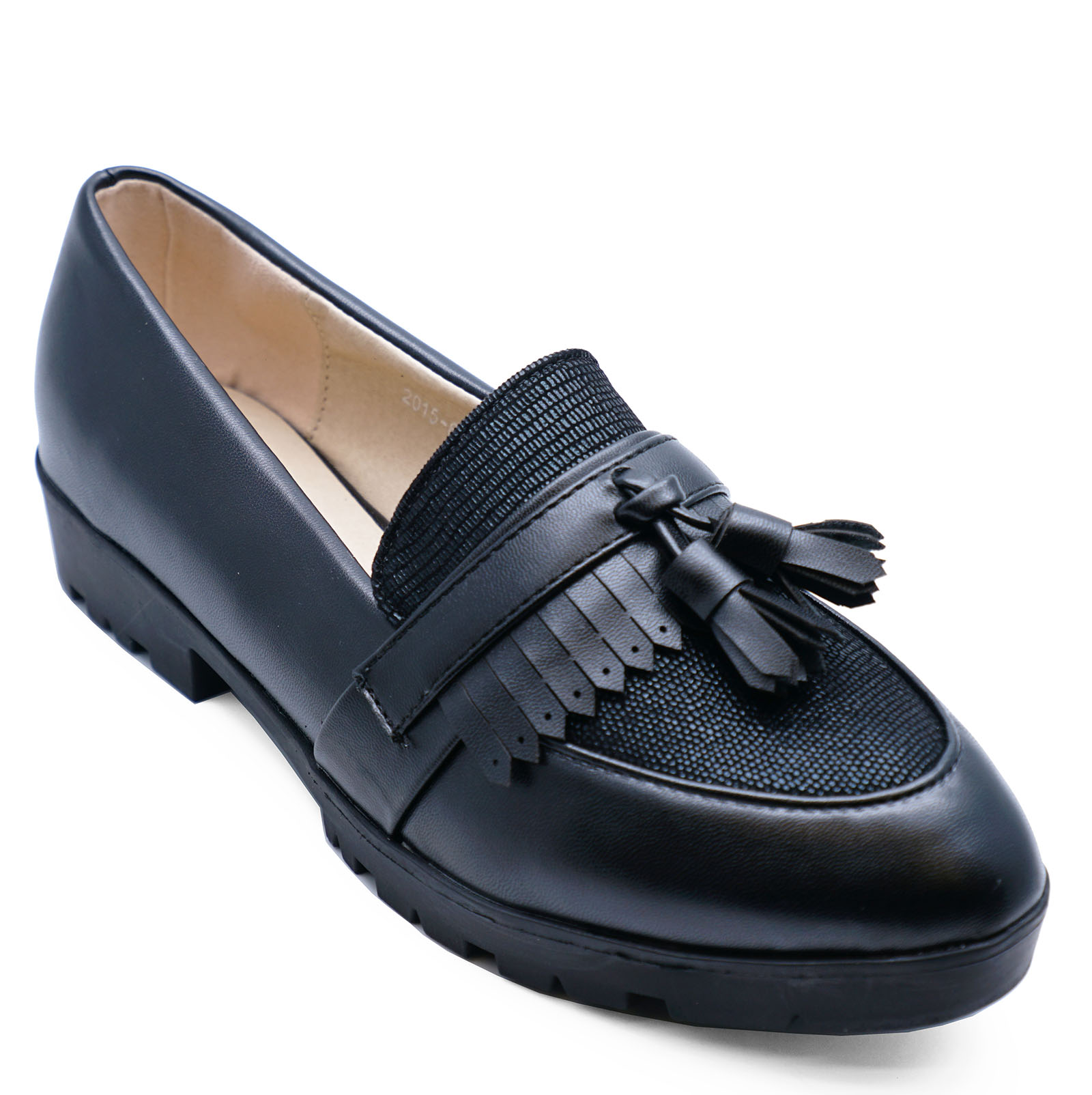 fab8cc5ed9e Sentinel WOMENS SMART BLACK COMFY CASUAL WORK SLIP-ON LOAFERS SHOES PUMPS  SIZES 3-8