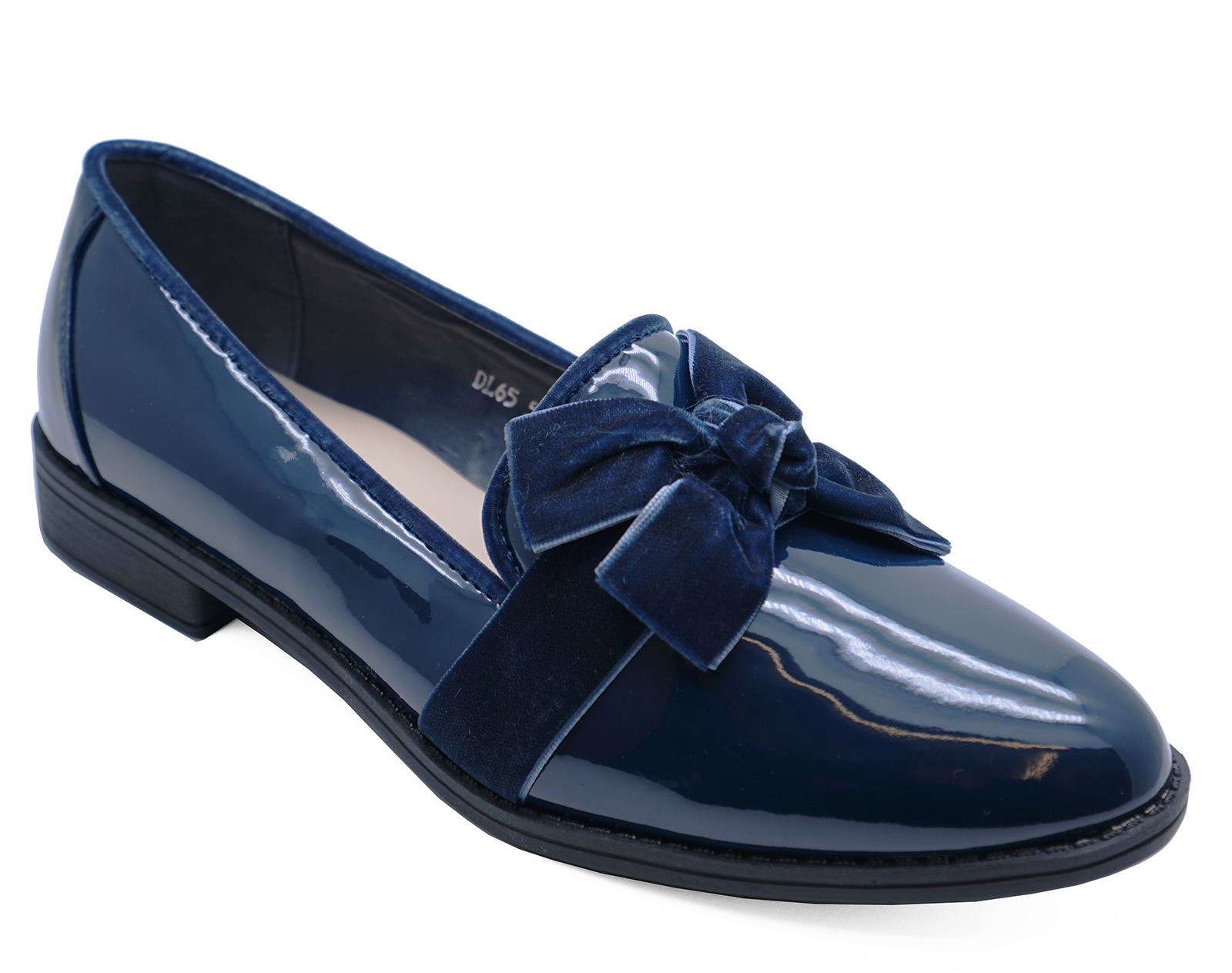 41d7c2ad353 Details about WOMENS SLIP-ON DARK BLUE PATENT LOAFERS SMART CASUAL WORK  SHOES PUMPS UK 3-8