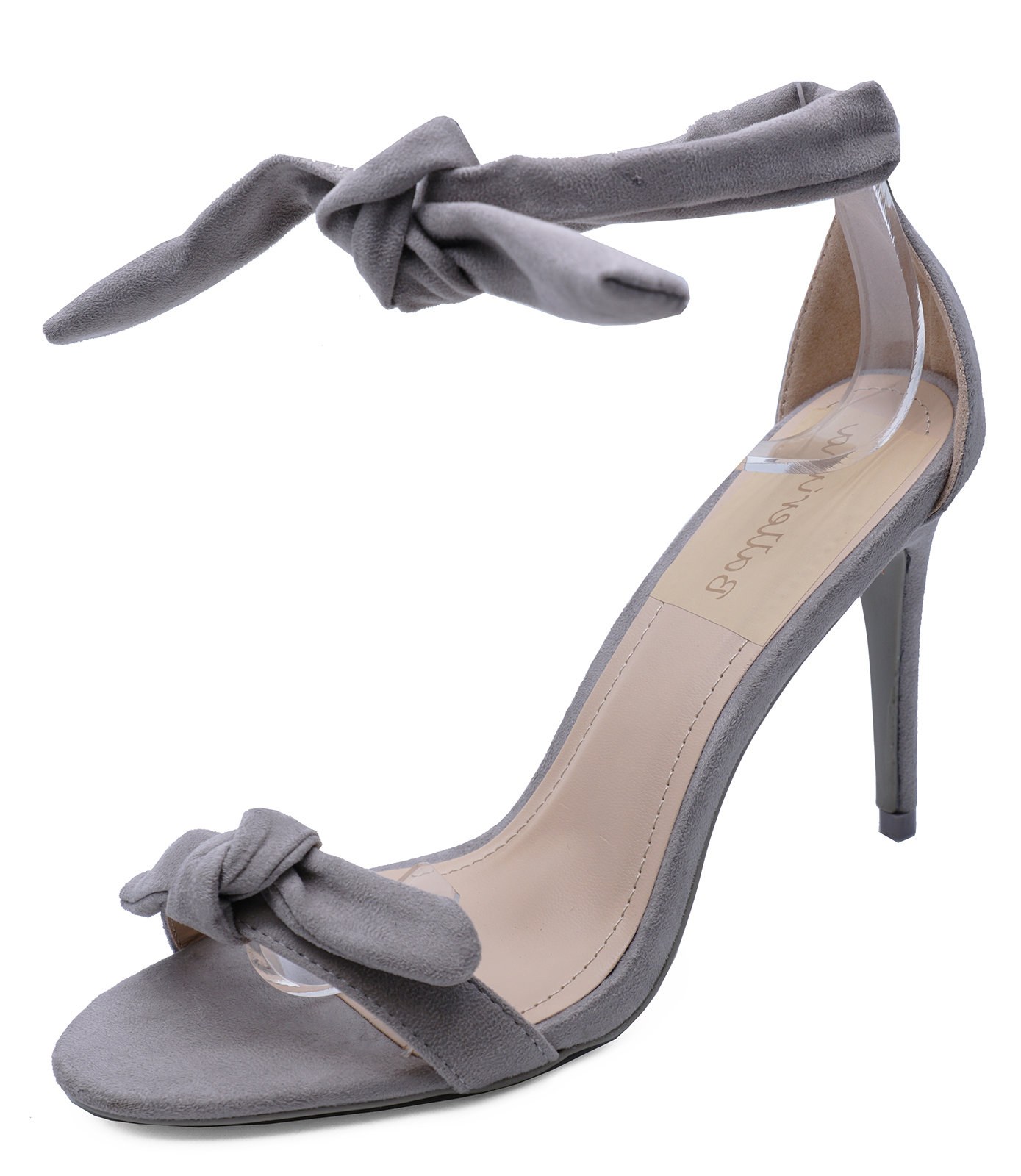 7908fac6c84 Sentinel WOMENS GREY OPEN-TOE PARTY WEDDING PROM EVENING STRAPPY SANDALS  SHOES UK 3-8