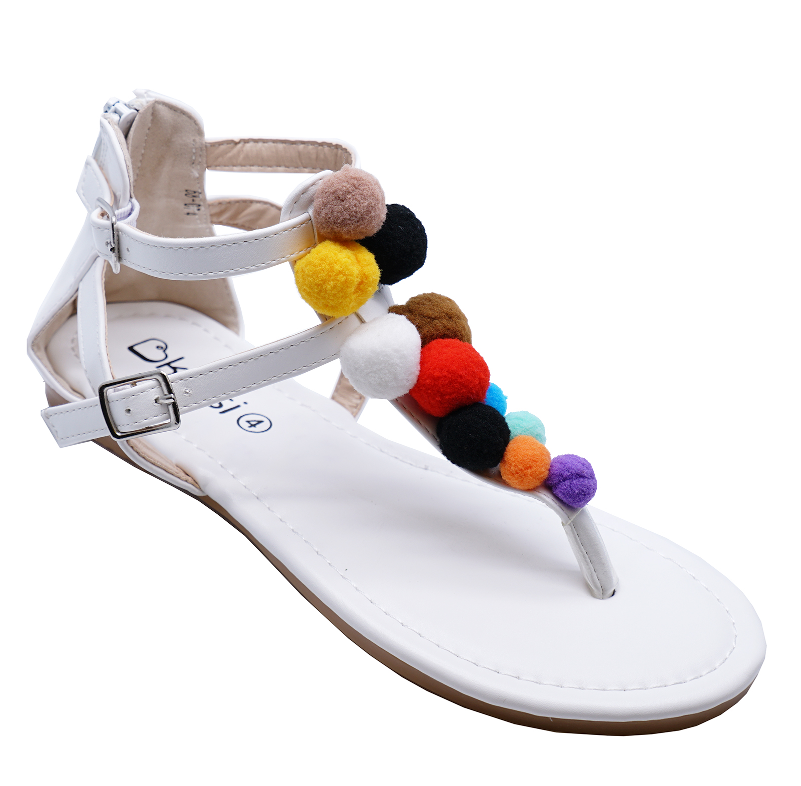 87e284fd5 Sentinel LADIES FLAT WHITE T-BAR GLADIATOR SUMMER OPEN-TOE SANDALS HOLIDAY SHOES  UK 3