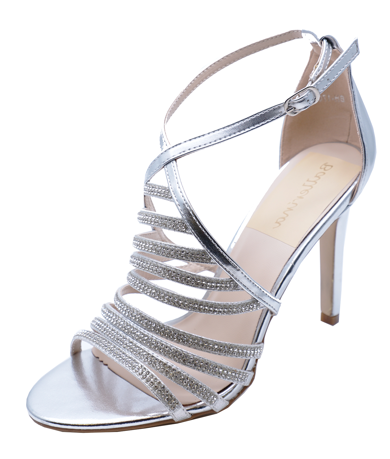 43ba53d4e6b7 Sentinel WOMENS SILVER BRIDESMAID BRIDE WEDDING BRIDAL DIAMANTE SANDALS  SHOES UK 3-7