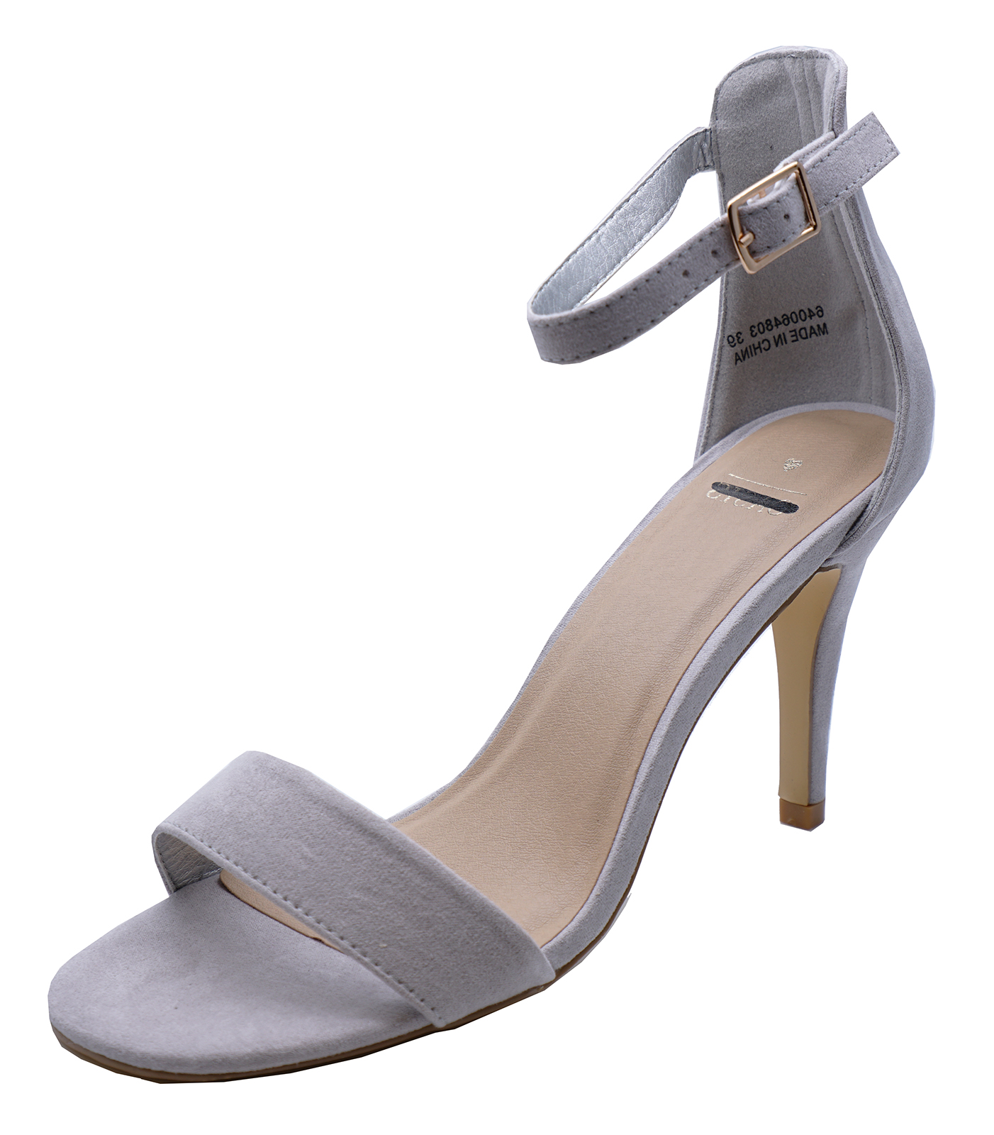 ae1401bb6bd Sentinel WOMENS GREY OPEN-TOE STRAPPY HIGH-HEEL WEDDING PARTY SANDALS SHOES  SIZES 3-