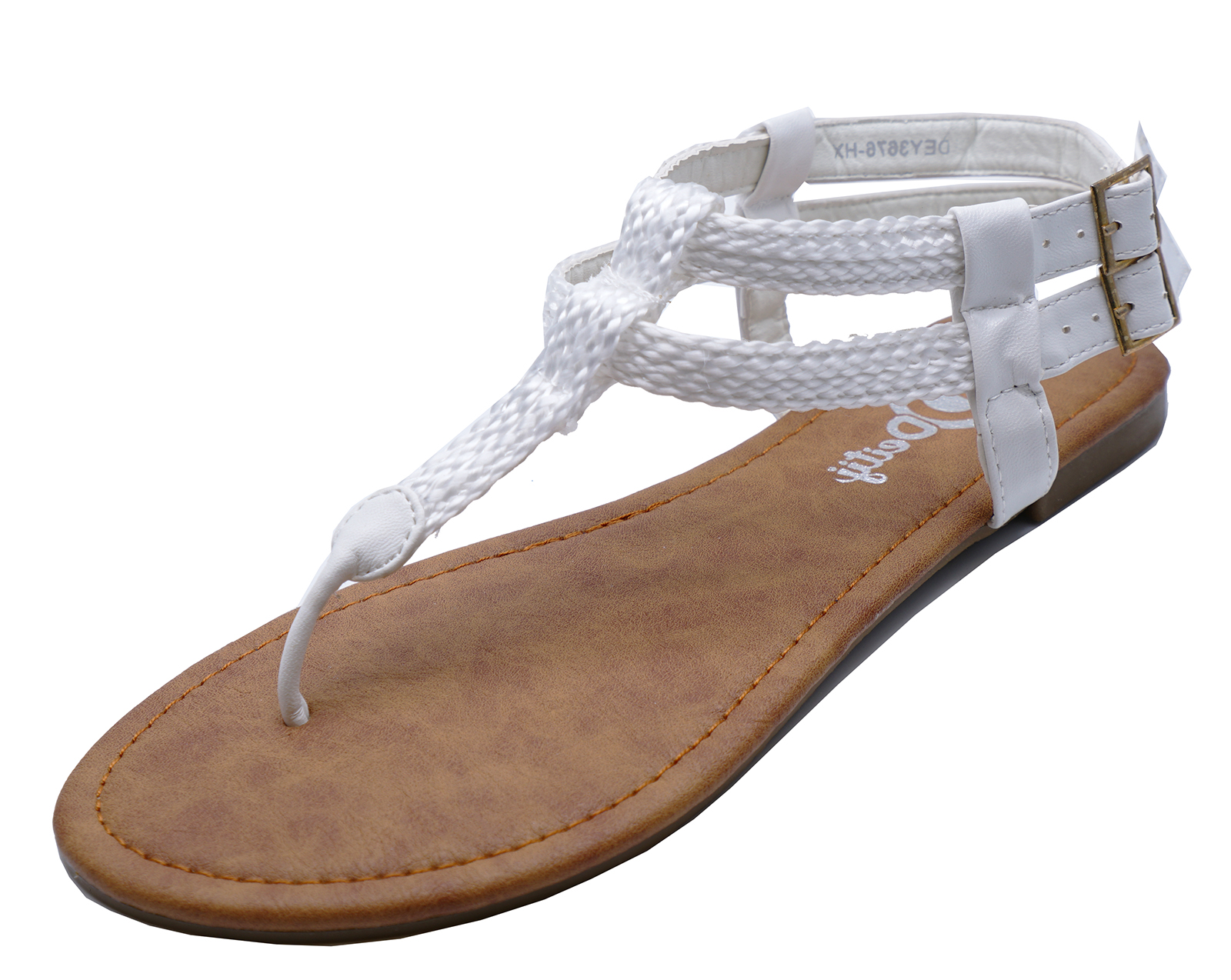 efb01b5608f7a Sentinel WOMENS WHITE TOE-POST GLADIATOR SUMMER FLIP-FLOP SANDALS FLAT SHOES  SIZES 2-. Sentinel Thumbnail 3