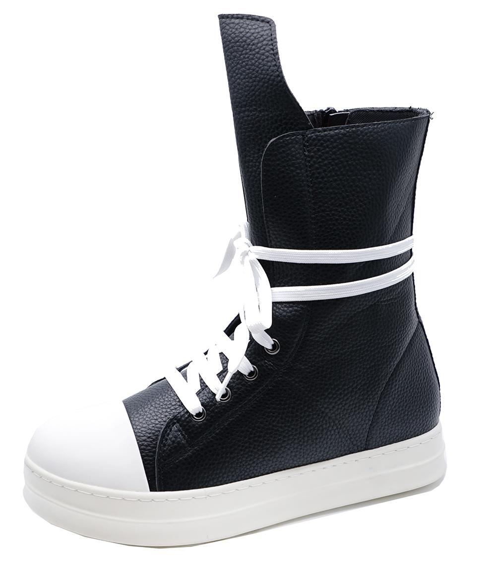 8 3 Boots Uk Plimsoll Pumps up Black Ladies Calf Trainer Lace Flat Casual Shoes qOT7gf