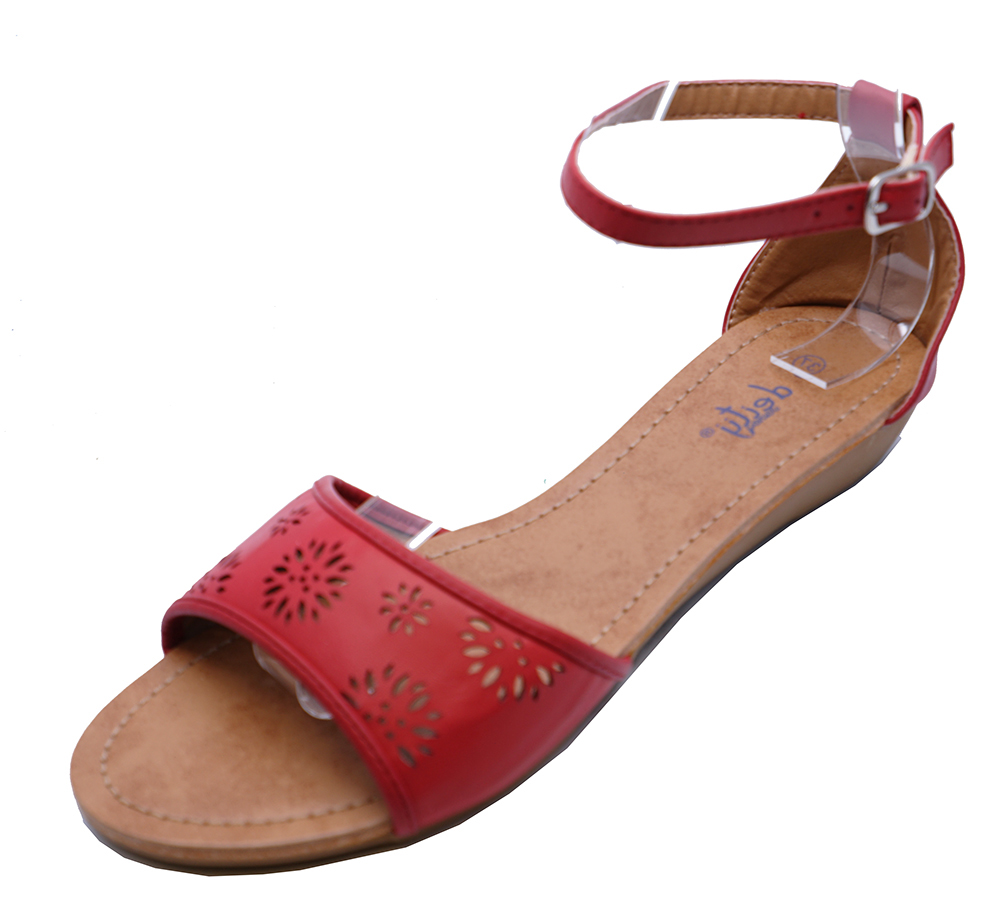 75528d1c0df KIDS GIRLS CHILDRENS RED LOW WEDGE SUMMER SANDALS CUTE HOLIDAY SHOES ...