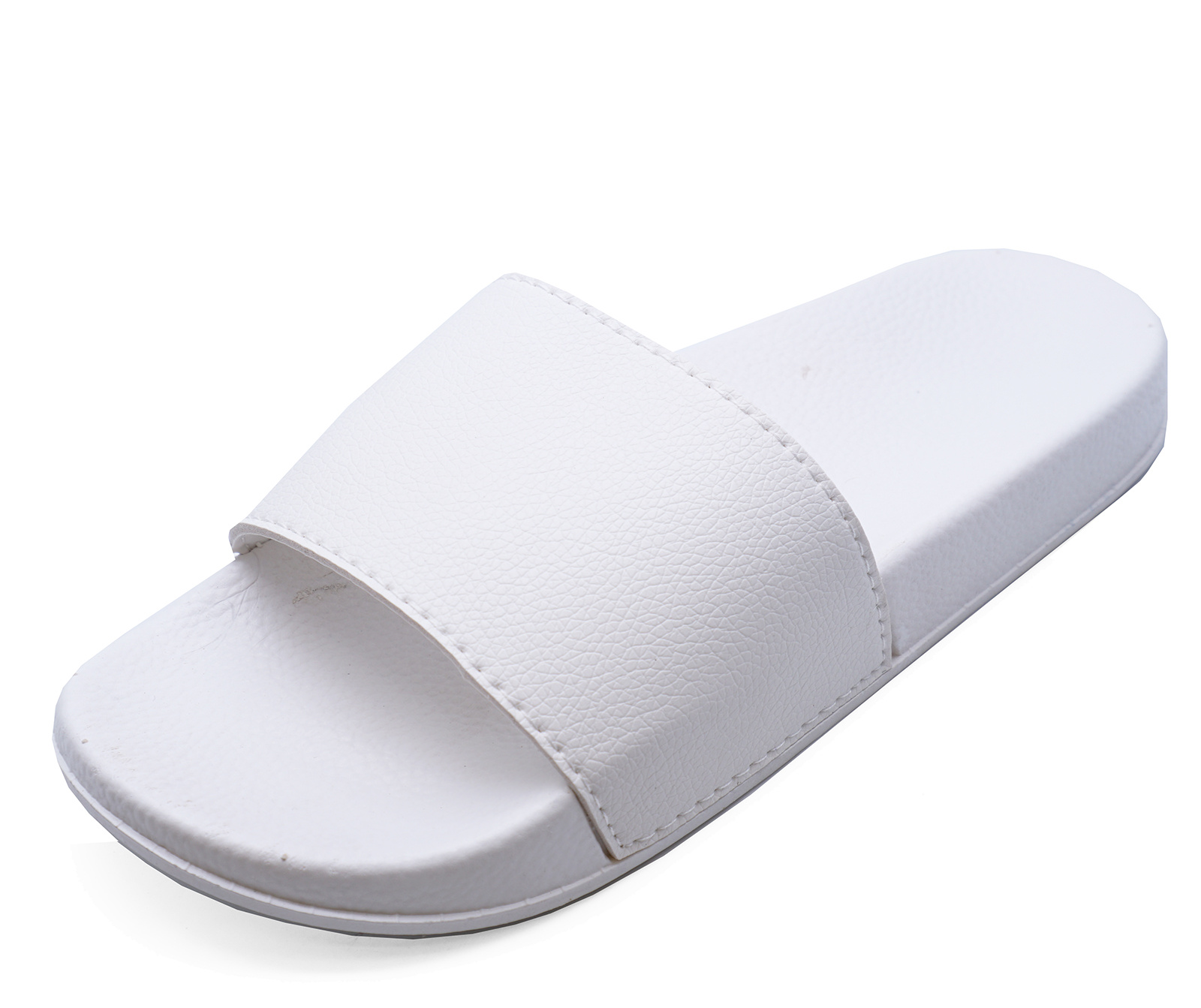 2bf6a5eaf9aa LADIES WHITE SLIP-ON SLIDERS COMFY FLAT MULES HOLIDAY SANDALS POOL ...