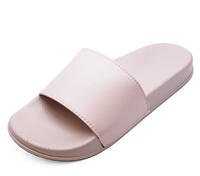 View Item LADIES NUDE SLIP-ON SLIDERS COMFY FLAT MULES HOLIDAY SANDALS POOL SHOES UK 3-8