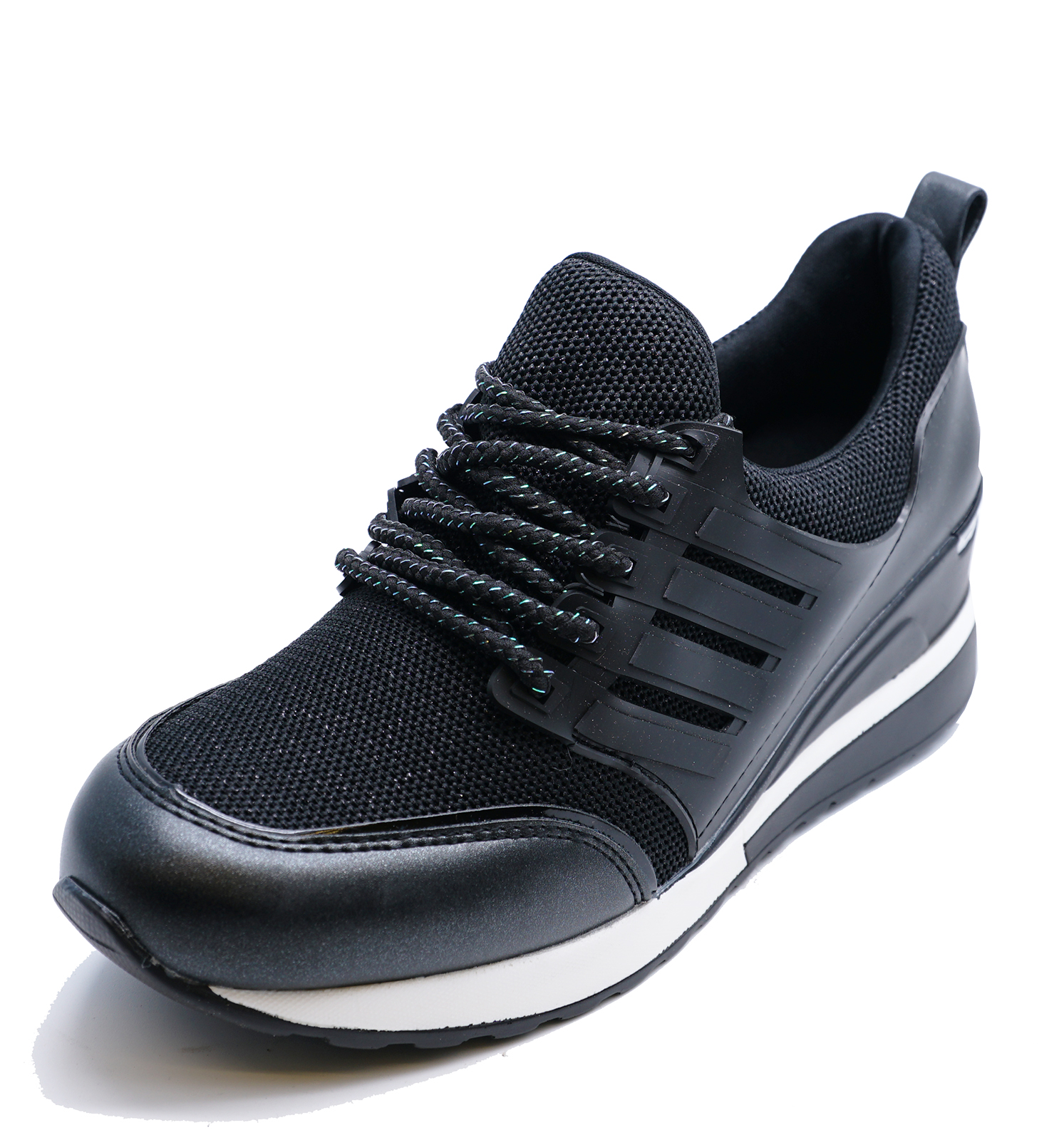 d041e81cf4ae6 Sentinel WOMENS BLACK SLIP-ON RUNNING WEDGE TRAINERS GYM PUMPS PLIMSOLLS  SHOES UK 3-8
