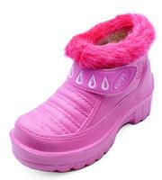 View Item KIDS GIRLS CHILDRENS PINK EVA SPLASH CUTE FLAT RAIN ANKLE BOOTS SHOES SIZES 11-2